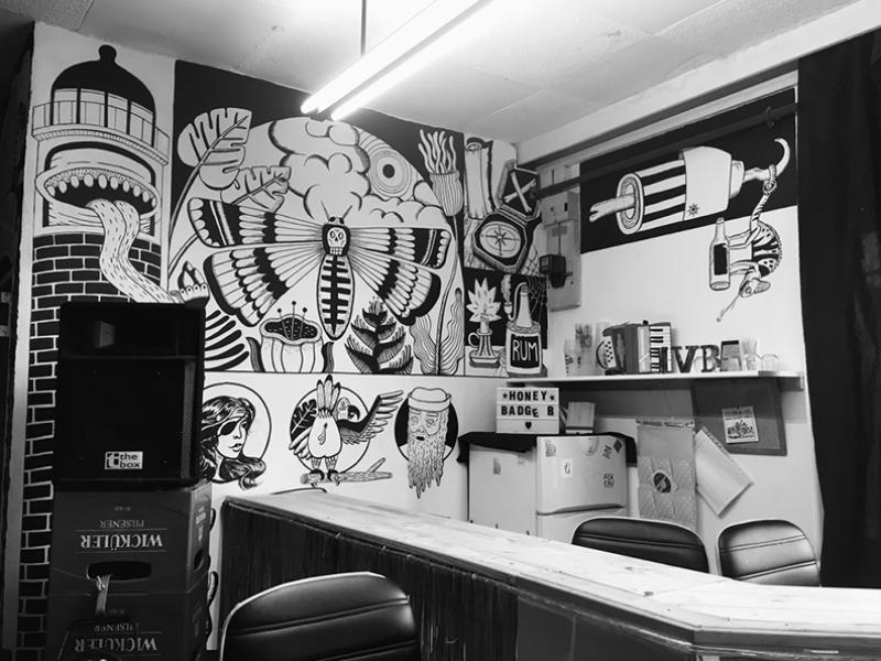 Wandgestaltung für einen Konzert Club